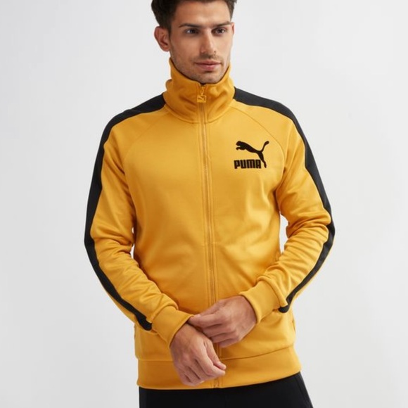 d9a3a6077cc0 Rare Sold Out Puma T7 Vintage Track Jacket Yellow